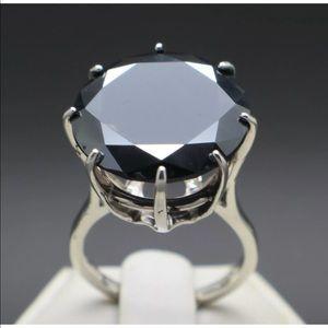 18.80ct Natural Black Diamond Ring